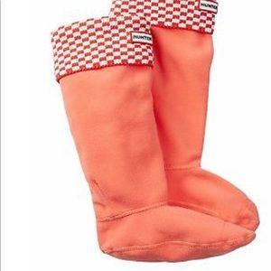 Hunter Brick Boot Socks iSunset/White  short